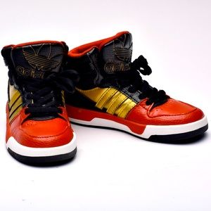 Adidas Toddler Unisex High Top Size Red Bl…